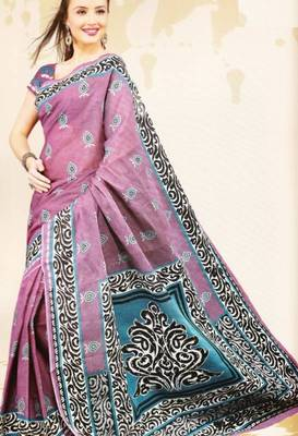 Sarees Mal Mal Cotton Designer Prints With Blouse Piece D.No D1025