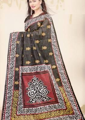 Sarees Mal Mal Cotton Designer Prints With Blouse Piece D.No D1026