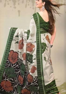 Sarees Mal Mal Cotton Designer Prints With Blouse Piece D.No D1030