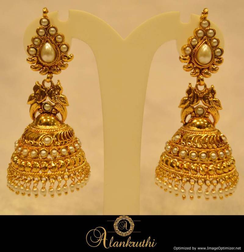 Alankruthi Fancy Gold Jhumka 22