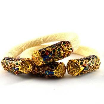 I,rajasthani moti stretchable bangles