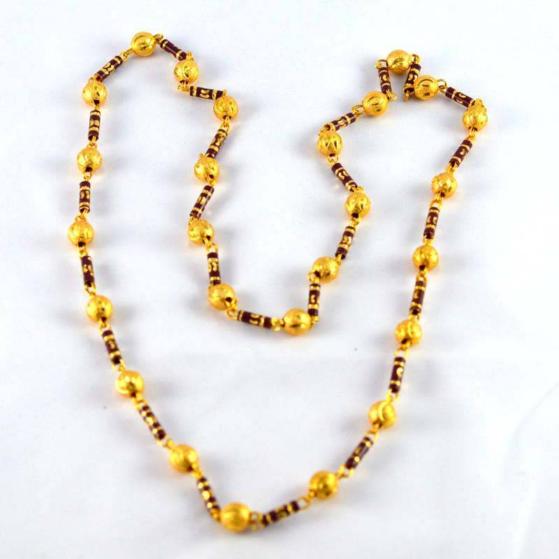 Buy Gold Platted Moti Mala Size 28 Inch Online