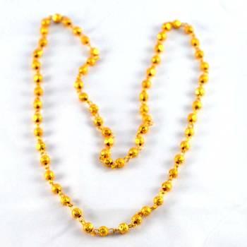 gold platted moti mala size-28''inch