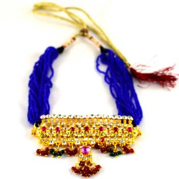 gold platted rajasthani add with adjustable