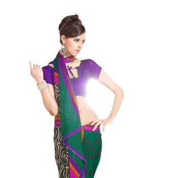 Hypnotex Jute Silk Green Color Designer Saree Fig2311D