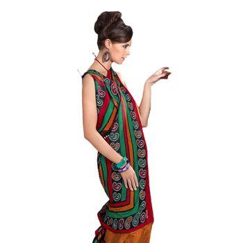 Hypnotex Bhagalpuri Orrange Color Designer Saree Fig2313C