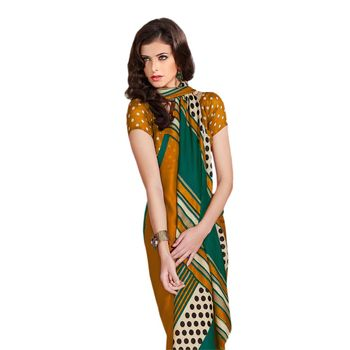 Hypnotex Bhagalpuri and Jacquard Yellow Color Designer Saree Fig2315C