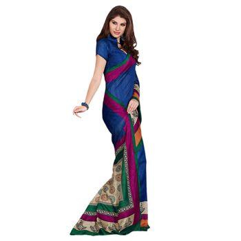 Hypnotex Bhagalpuri Blue Color Designer Saree Fig2318A