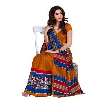 Hypnotex Bhagalpuri Orrange Color Designer Saree Fig2320A
