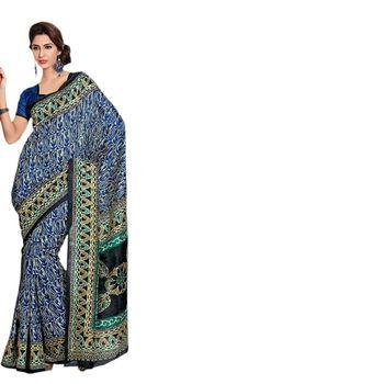 Hypnotex Bhagalpuri Multi Color Color Designer Saree Fig2321B