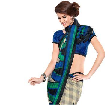 Hypnotex Bhagalpuri Cream Color Designer Saree Fig2326C
