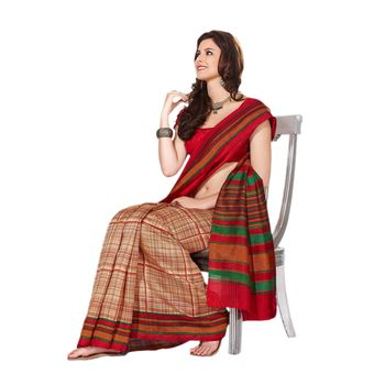 Hypnotex Bhagalpuri Maroon Color Designer Saree Fig2327B
