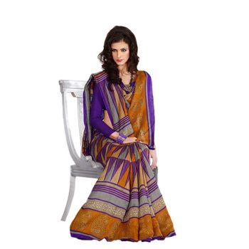 Hypnotex Bhagalpuri Purple Color Designer Saree Fig2328C
