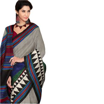 Hypnotex Bhagalpuri Black Color Designer Saree Fig2329C