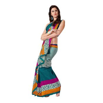 Hypnotex Bhagalpuri Blue Color Designer Saree Fig2331A