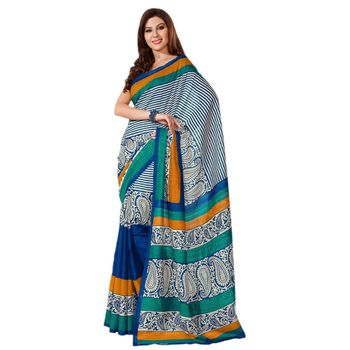 Hypnotex Bhagalpuri Blue Color Designer Saree Fig2331B