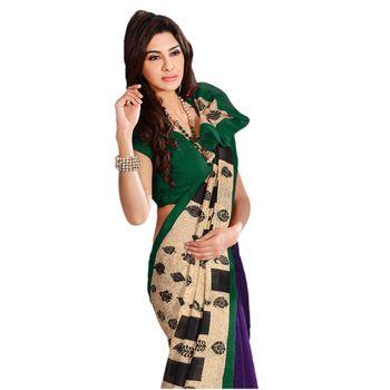 Hypnotex Bhagalpuri Cream Color Designer Saree Fig2337C
