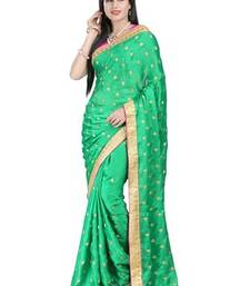 Buy Light Green printed satin saree with blouse satin-saree online