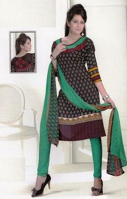 Dress Material Crepe Designer Prints Unstitched Salwar Kameez Suit D.No SJ1209