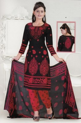 Dress Material Crepe Designer Prints Unstitched Salwar Kameez Suit D.No SJ1214