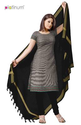 Dark Grey Ladies Cotton Daily Wear Suit Material PS035