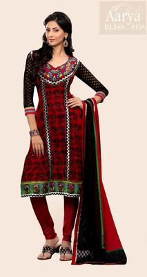Red Georgette Party Wear Suit