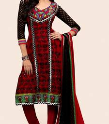 Buy Red Georgette Party Wear Suit dress-material online