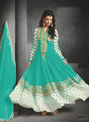 sky georgette embroidered semi_stitched salwar with dupatta