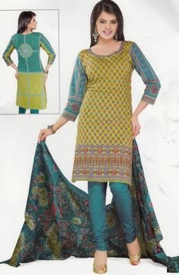 Cotton Dress Material Elegant Designer Unstitched Salwar Suit D.No 3502