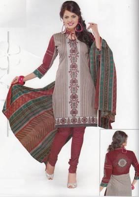 Cotton Dress Material Elegant Designer Unstitched Salwar Suit D.No 3505