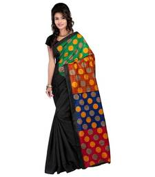 Buy Multi printed art_silk saree with blouse bhagalpuri-silk-saree online
