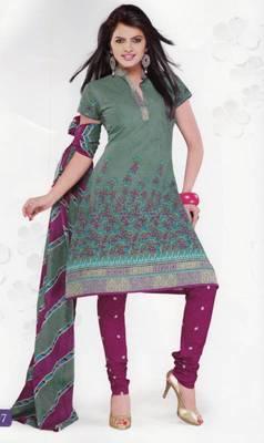 Cotton Dress Material Elegant Designer Unstitched Salwar Suit D.No 3507