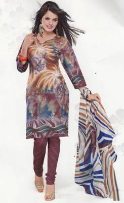 Cotton Dress Material Elegant Designer Unstitched Salwar Suit D.No 3512