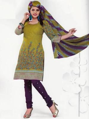 Cotton Dress Material Elegant Designer Unstitched Salwar Suit D.No 3517