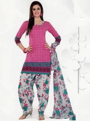 Cotton Dress Material Elegant Designer Unstitched Salwar Suit D.No 3518