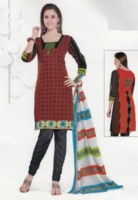 Cotton Dress Material Elegant Designer Unstitched Salwar Suit D.No 3522