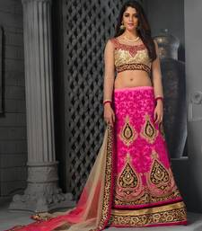 Buy Pink Net embroidered lehenga-choli lehenga-choli online