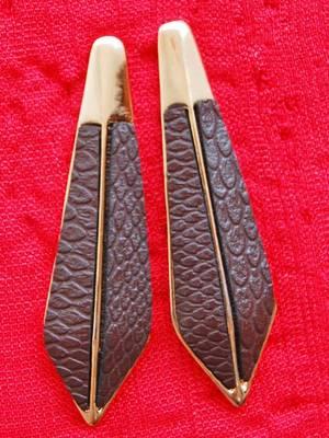 Maayra Golden Brown Office Sleek Earrings