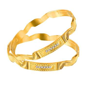Mahi Gold Plated Haute Fashion Bangles