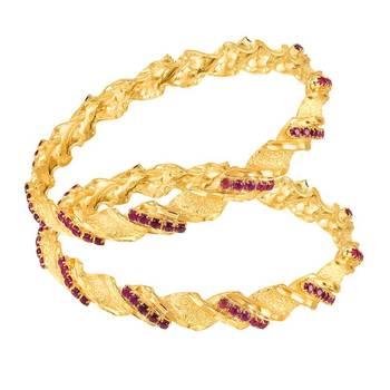 Mahi Gold Plated Timeless Glamour Bangles