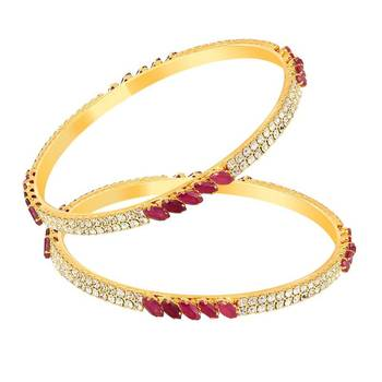 Mahi Gold Plated Perfecto Bangles