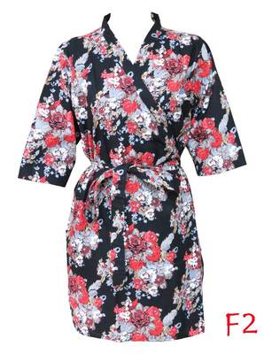 Floral cotton robe - knee length - nightwear - lounge wear - night wear - maternity wear - f2