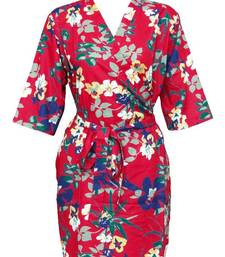 Buy Floral cotton robe - knee length - nightwear - lounge wear - night wear - maternity wear - d1 other-apparel online