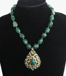 Green Jadau Stones Necklace