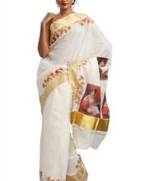 Mural painted Kerala Set saree  shop online