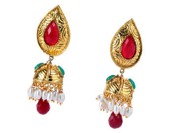 Traditional Leaf Shape Jhumka Earring