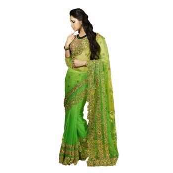 Hypnotex Full Net  Green Color Designer Dress Material Starplus7214