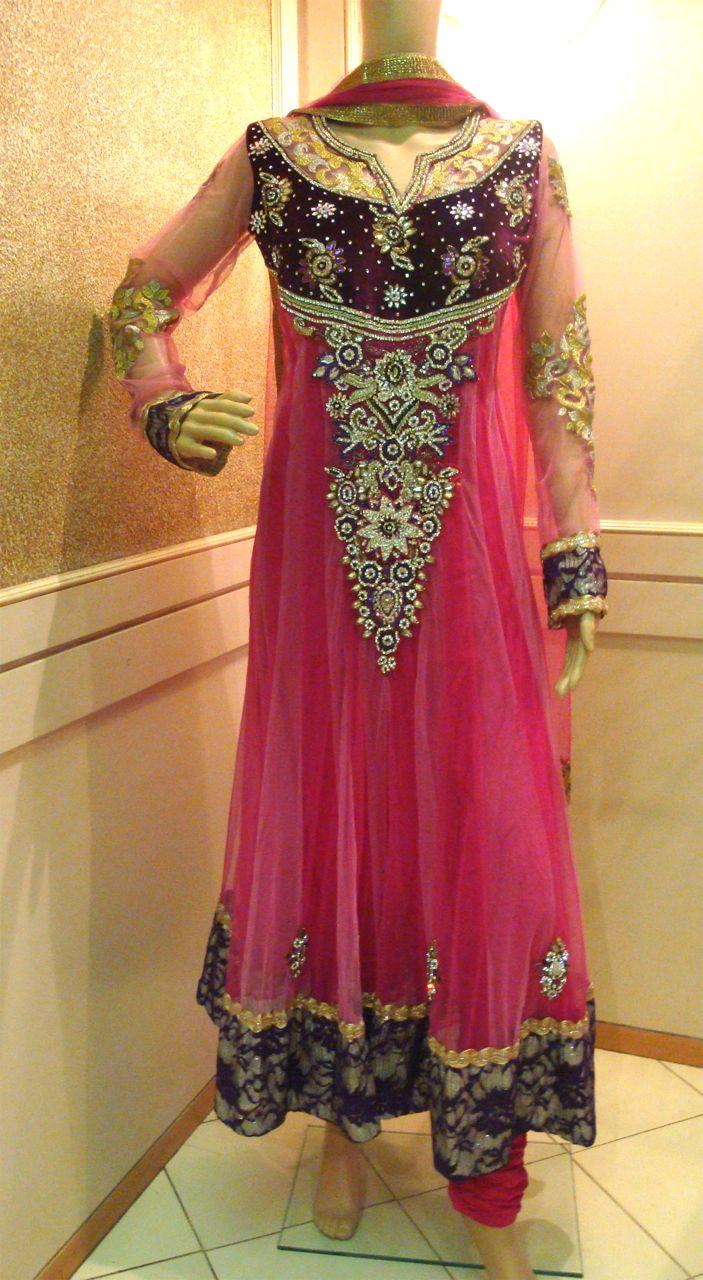 add85dc3cc Purple Pink Heavy Stone Work Anarkali - Traditsiya - 87283