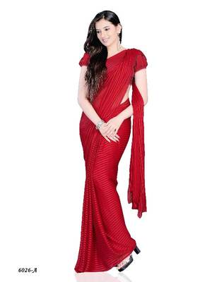 Graceful Casual Wear Saree with fancy Fabric by Diva Fashion- Surat