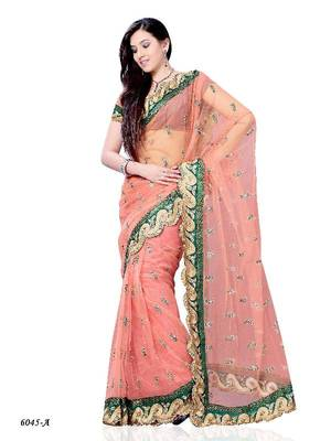 Celestial Casual Wear Saree with Fancy Fabric by DIVA FASHION-Surat